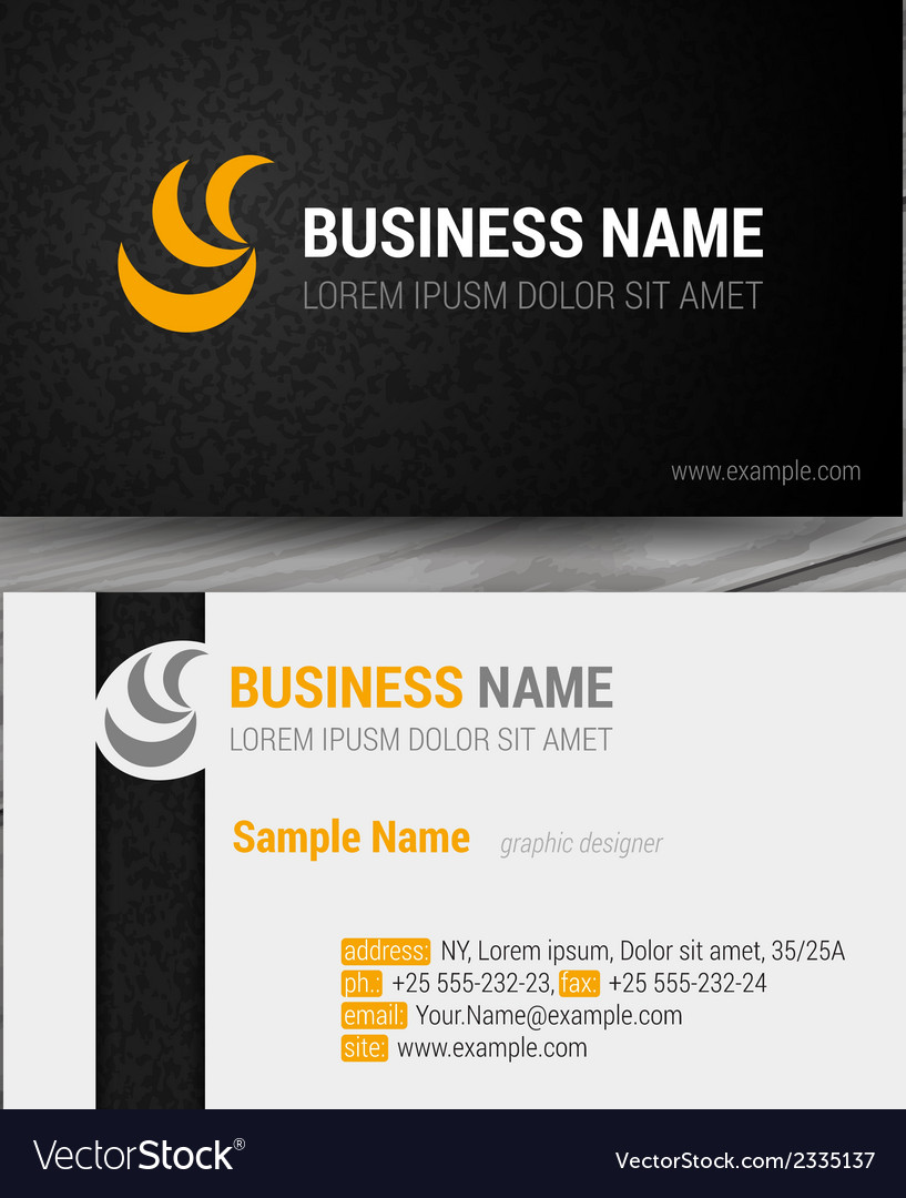 Abstract creative business cards set template vector image reheart Images
