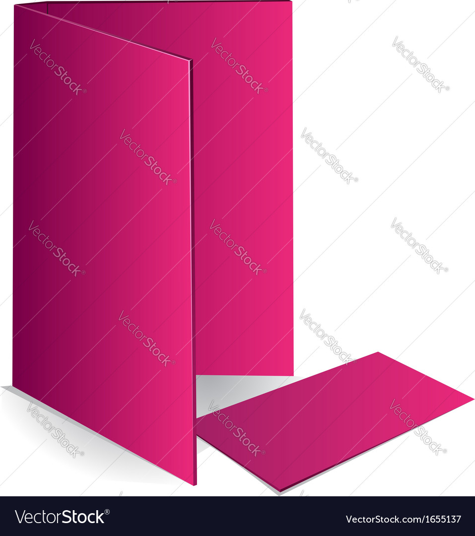 Background pink business card and document case Vector Image
