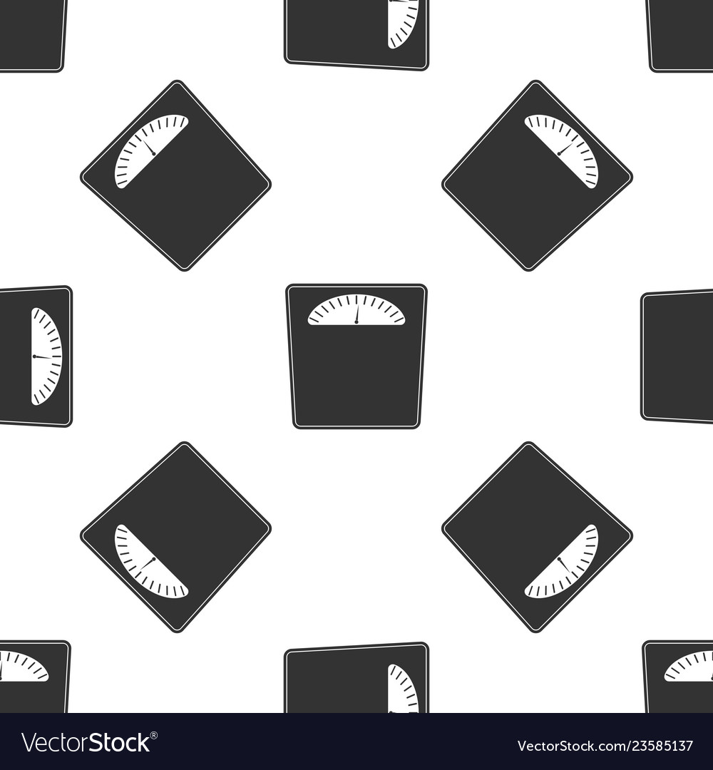Bathroom scales icon seamless pattern