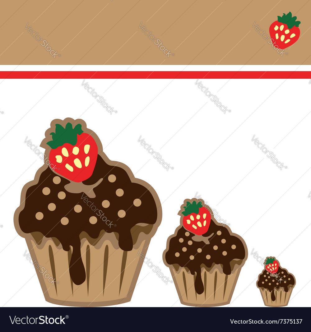Cream choco cake invitation card