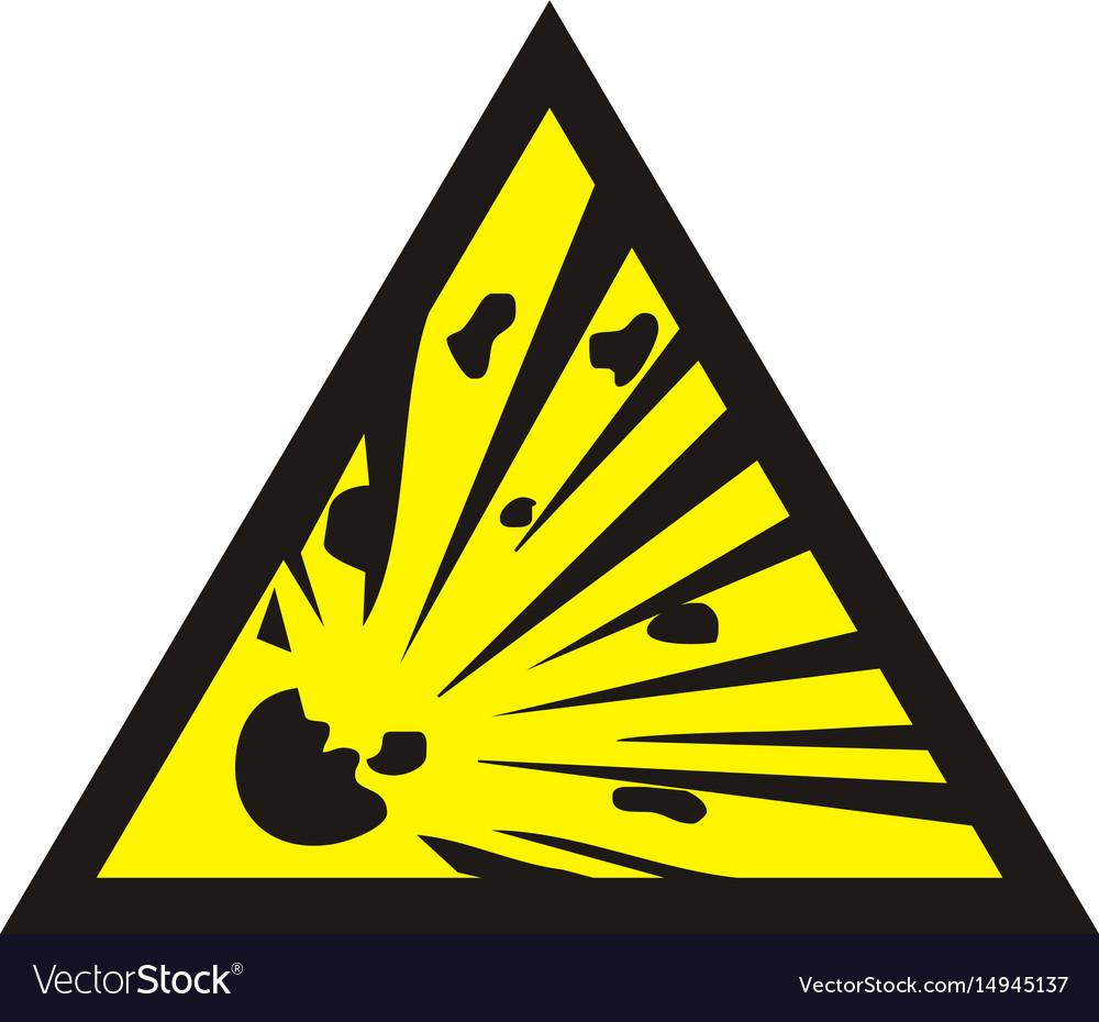 Danger of the explosion - warning sign