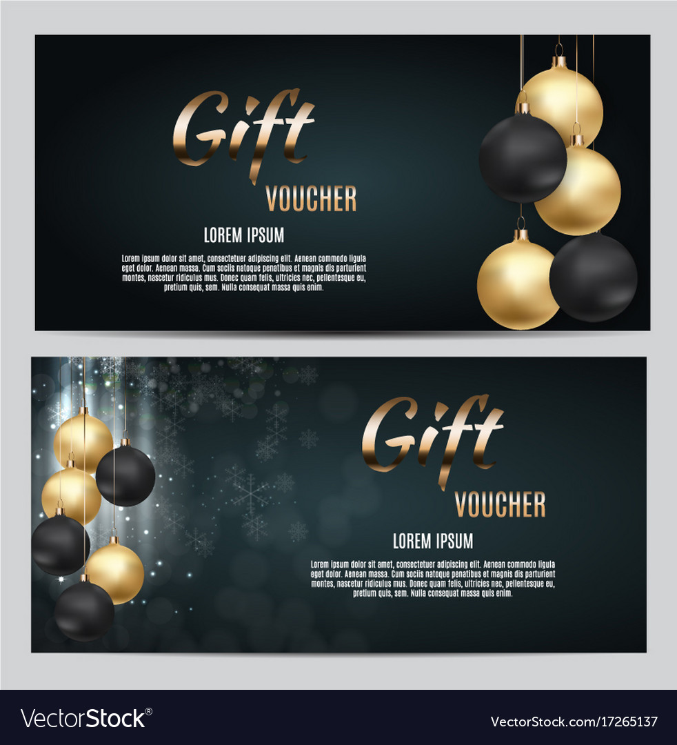 New year and christmas gift voucher template