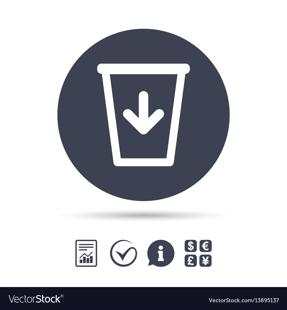 Send to the trash icon recycle bin sign