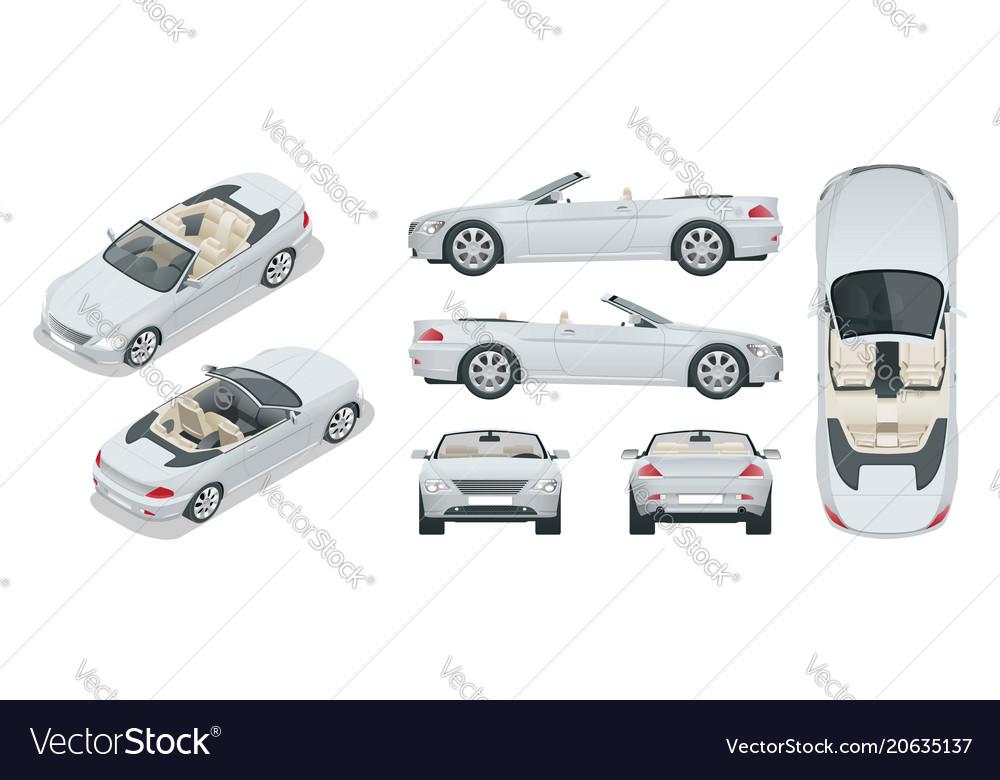 Transfer cabriolet car cabrio coupe vehicle vector image