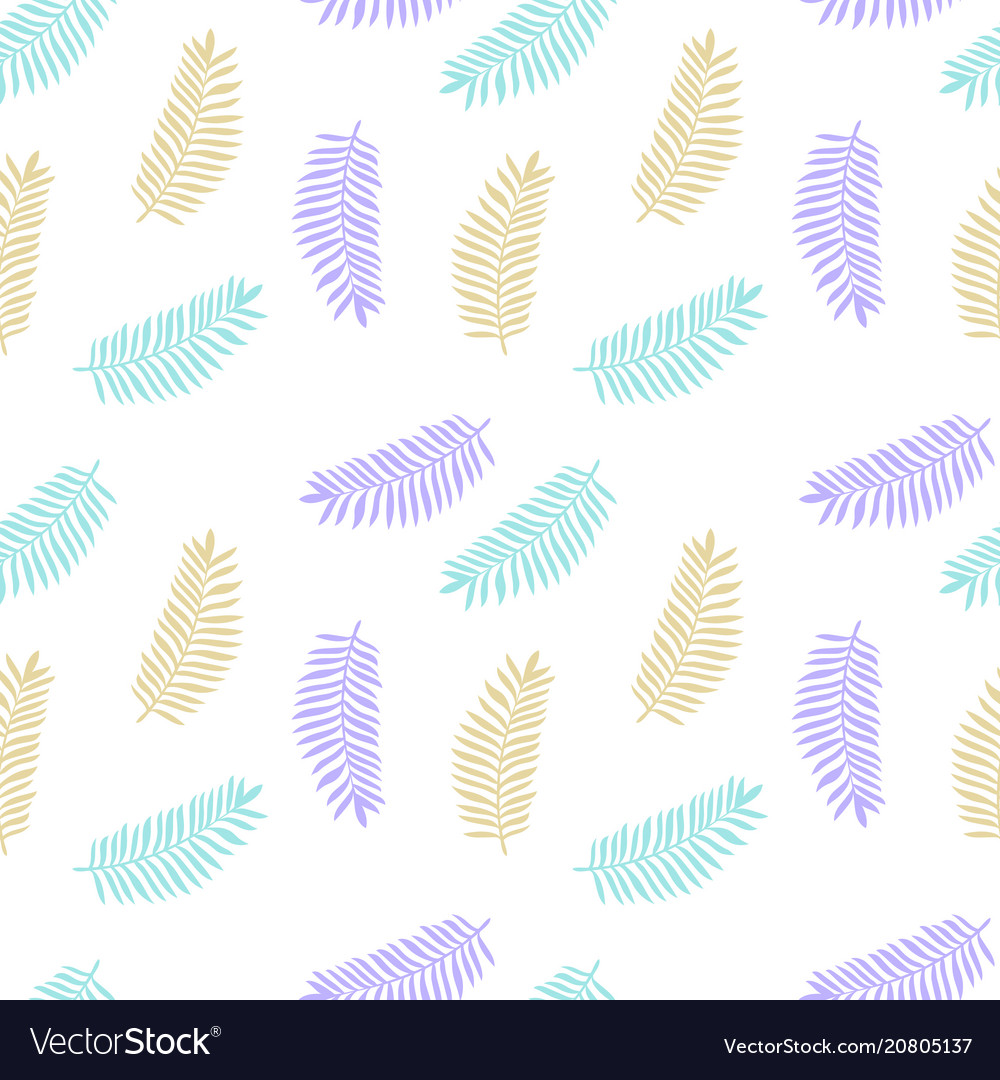Tropical background with colorful palm leaves