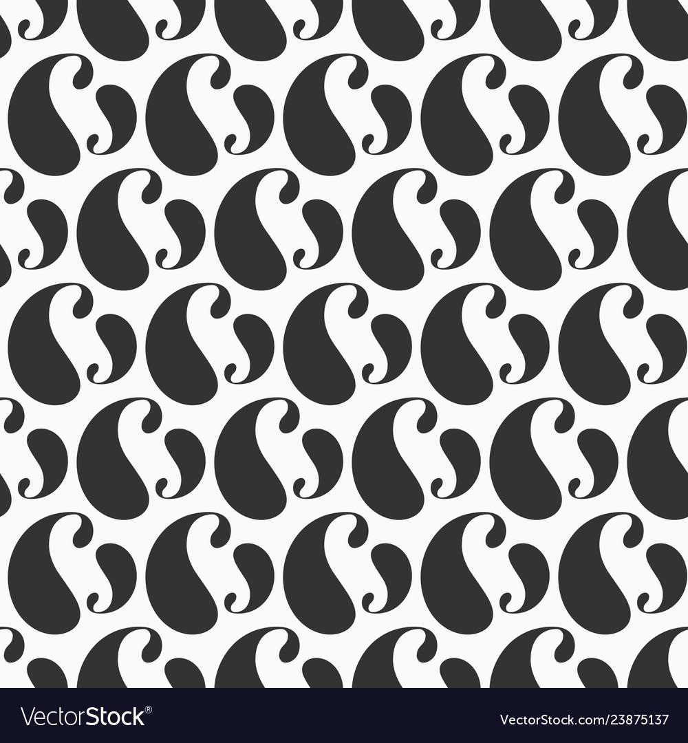 Vintage simple paisley pattern repeating