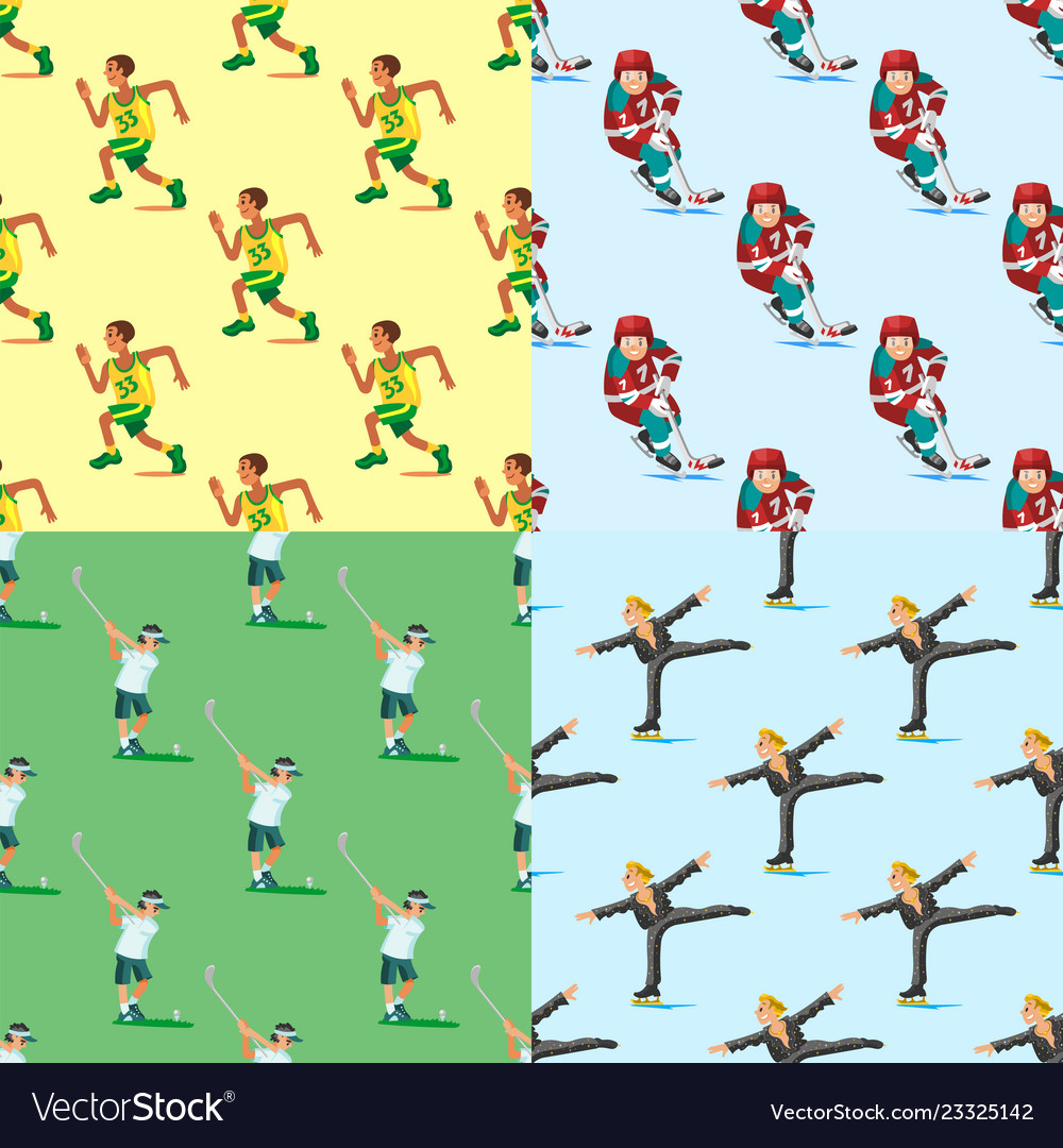 Health sport seamless pattern background wellness