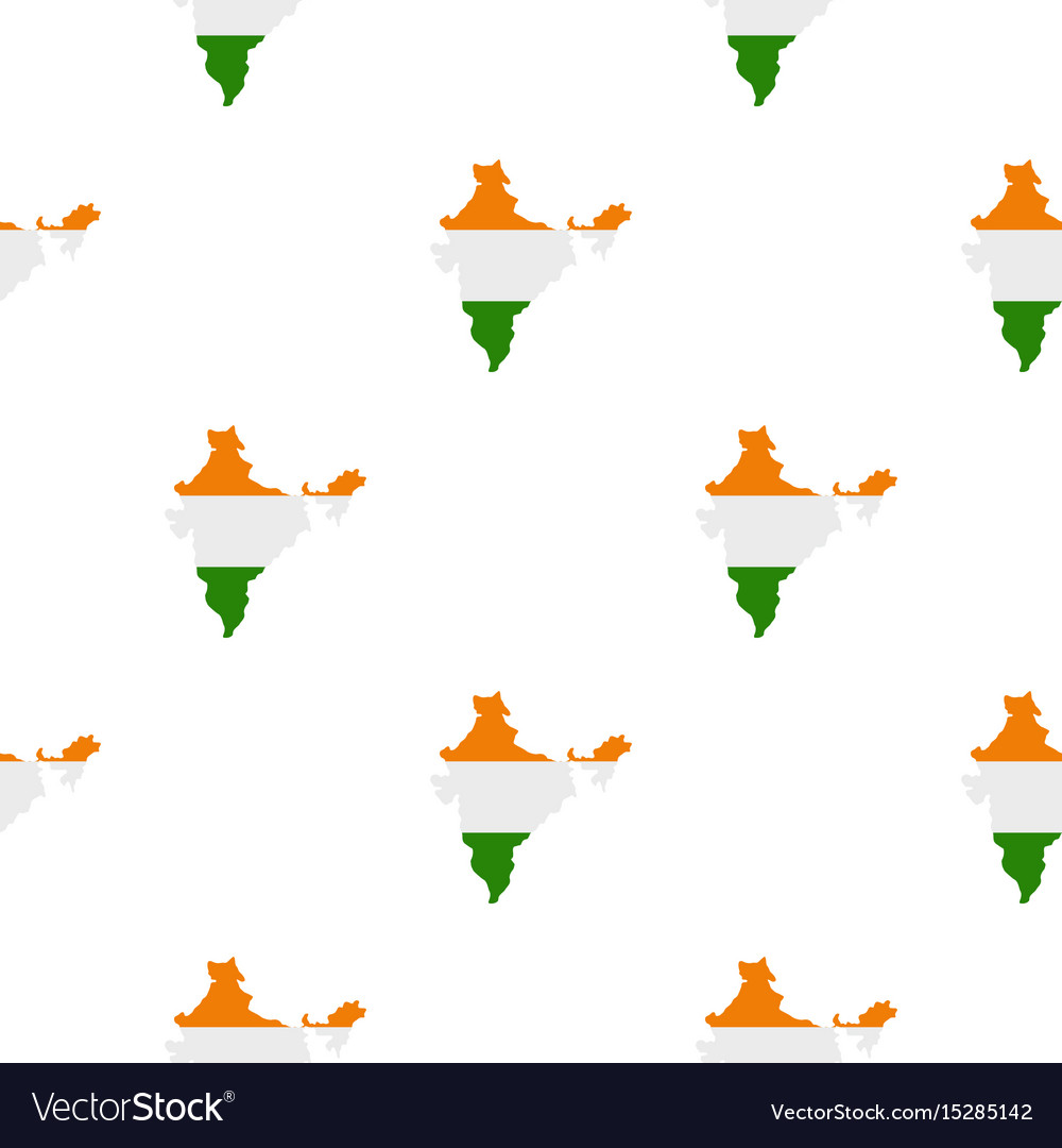 Indian map pattern seamless vector image