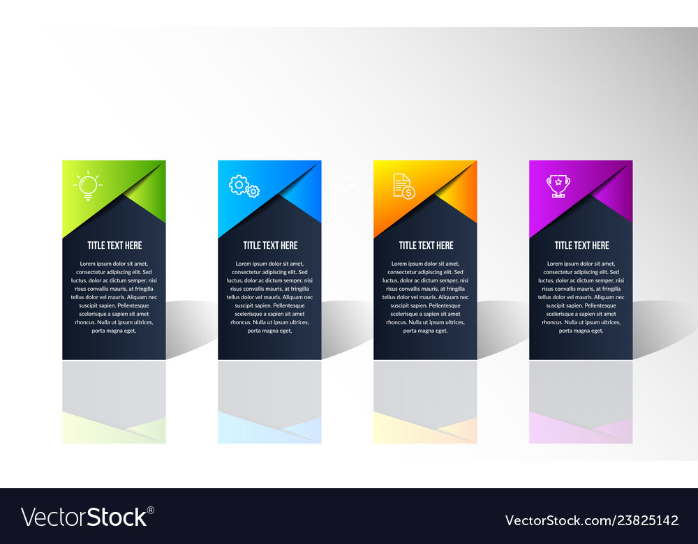 Modern color infographic