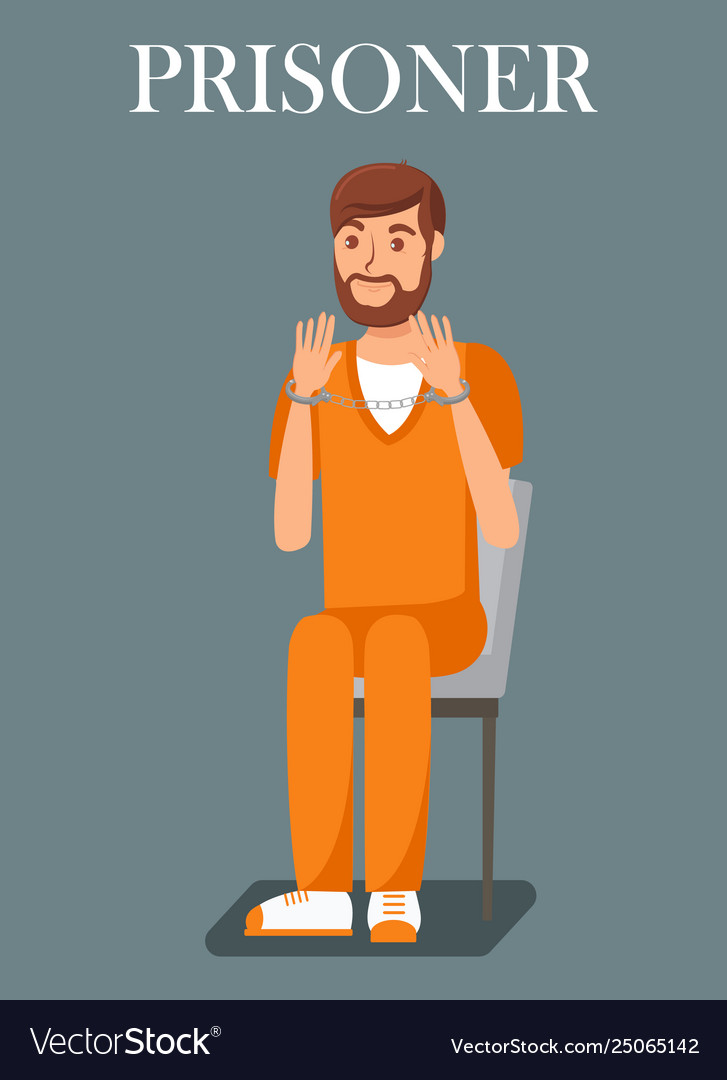 Prisoner convicted person flat banner template