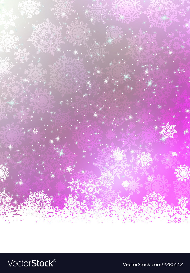Purple Christmas Background EPS 8 vector image