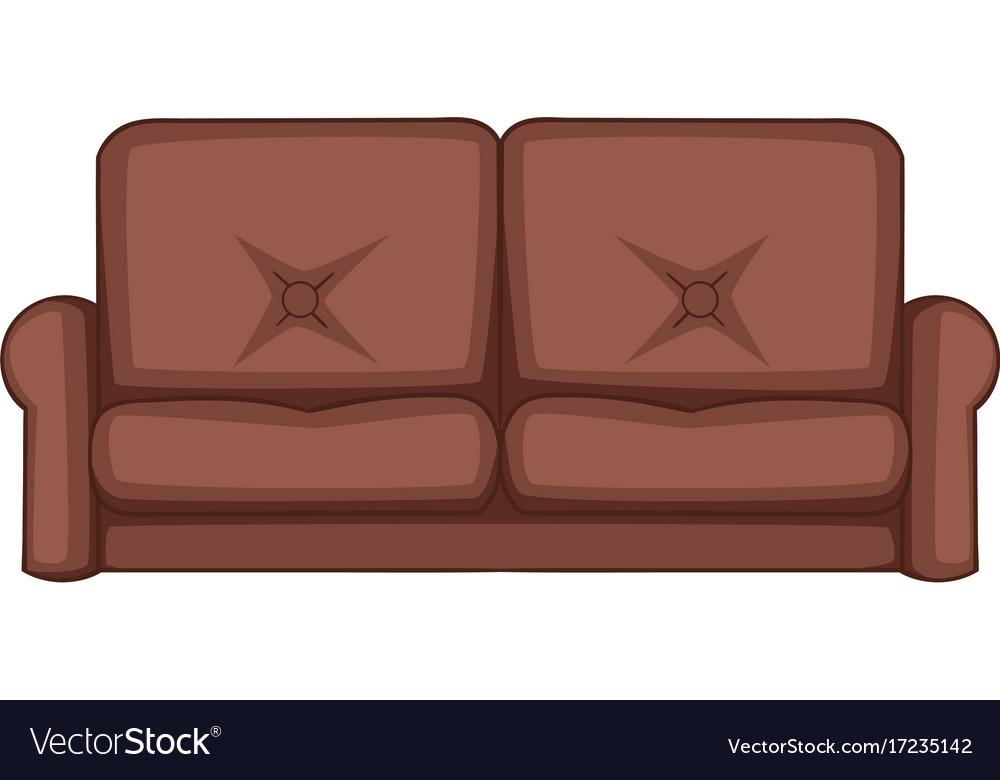 sofa icon cartoon style royalty free vector image