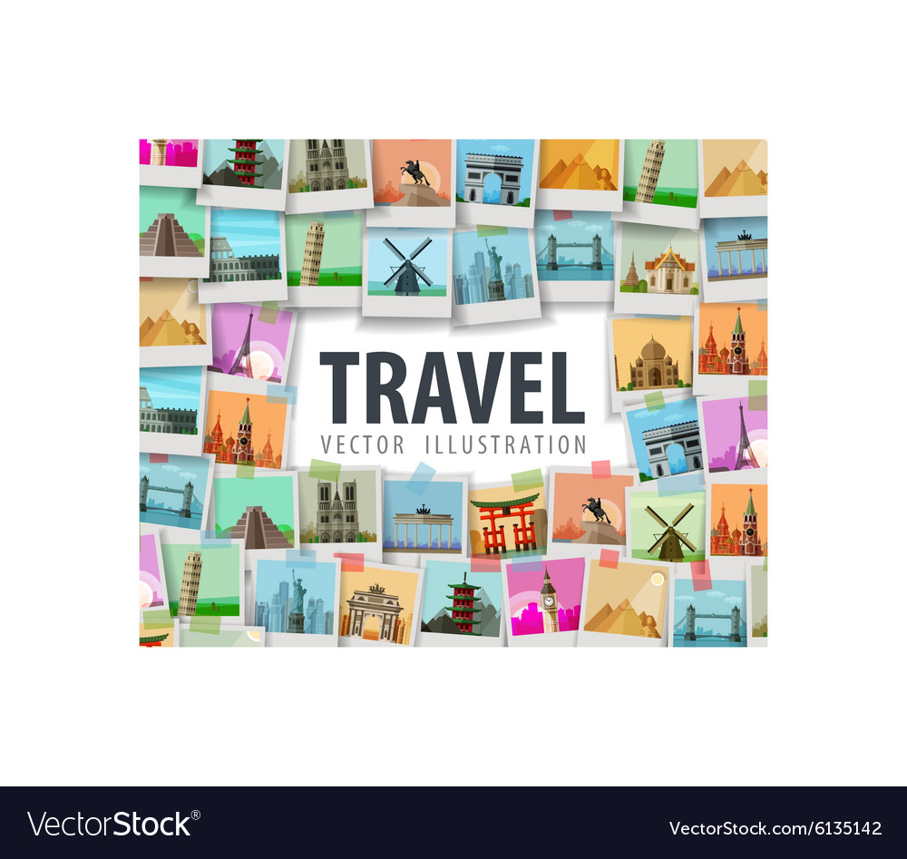 Travel logo design template trip or