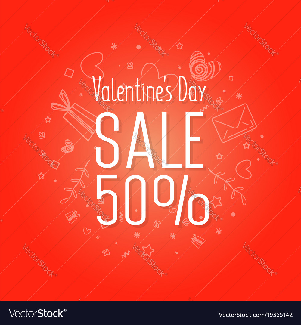 Valentines day sale web flyer