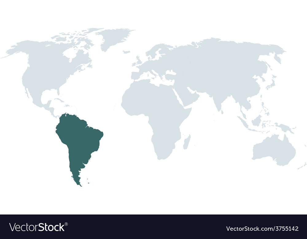 World map south america Royalty Free Vector Image