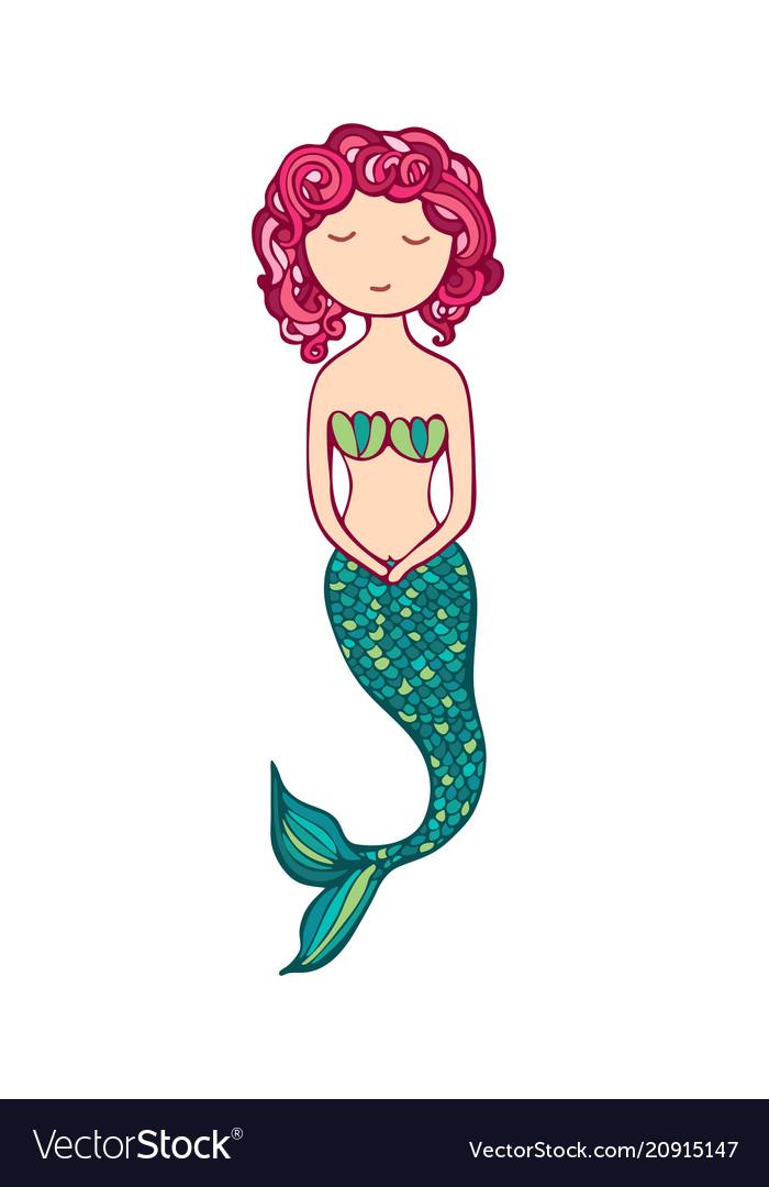 Cute little mermaid lovely siren