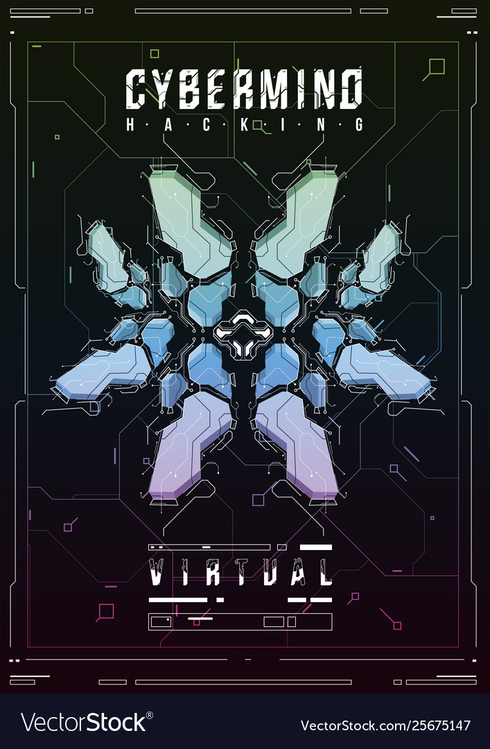 Cyberpunk futuristic poster retro futuristic