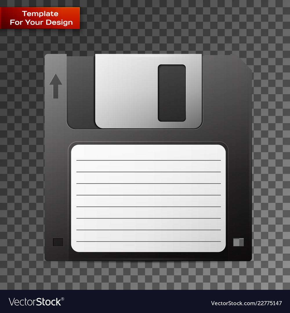 Diskette on transparent background
