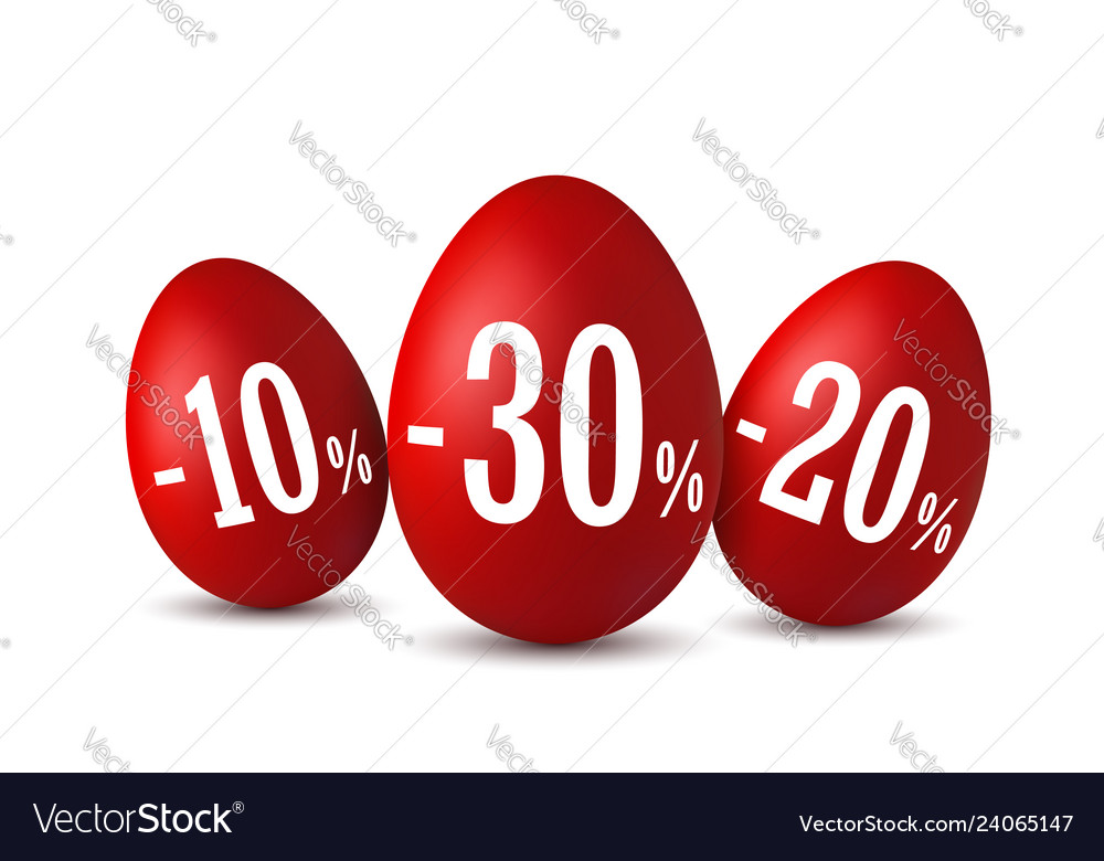 Easter egg sale happy easter eggs 3d template