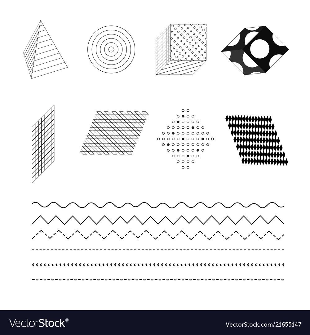 Fashionable black and white simple geometric