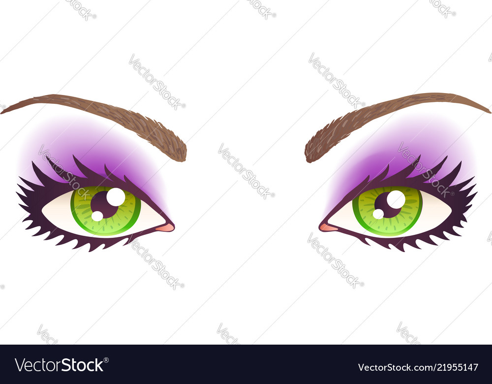 Green eyes with make-up