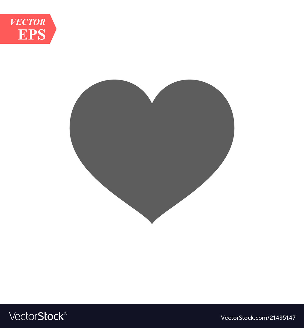 Heart Icon Love Symbol Valentine S Day Royalty Free Vector
