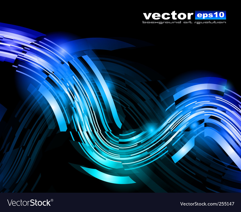 Light streaks vector image
