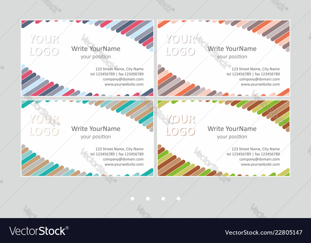 Minimalistic business card templates universal