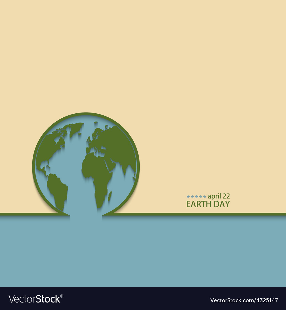 Modern april 22 earth day background