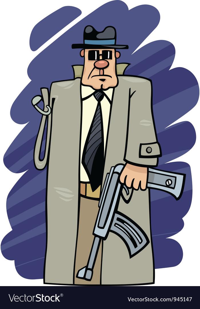 One armed bandit cartoon vector image