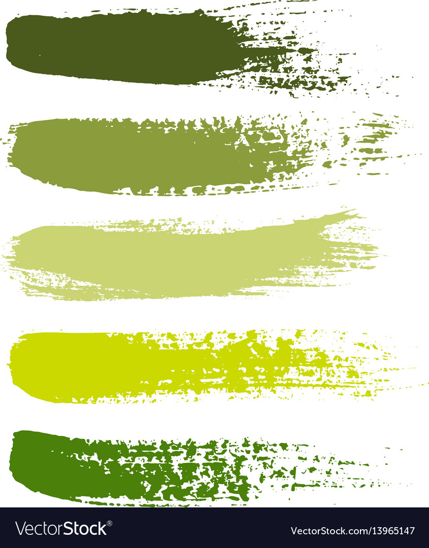 Set of grunge brush strokes set of