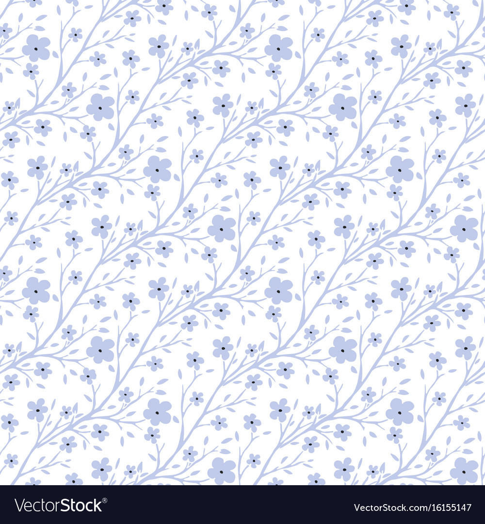 Tiny flowers pattern vintage seamless pattern for vector image