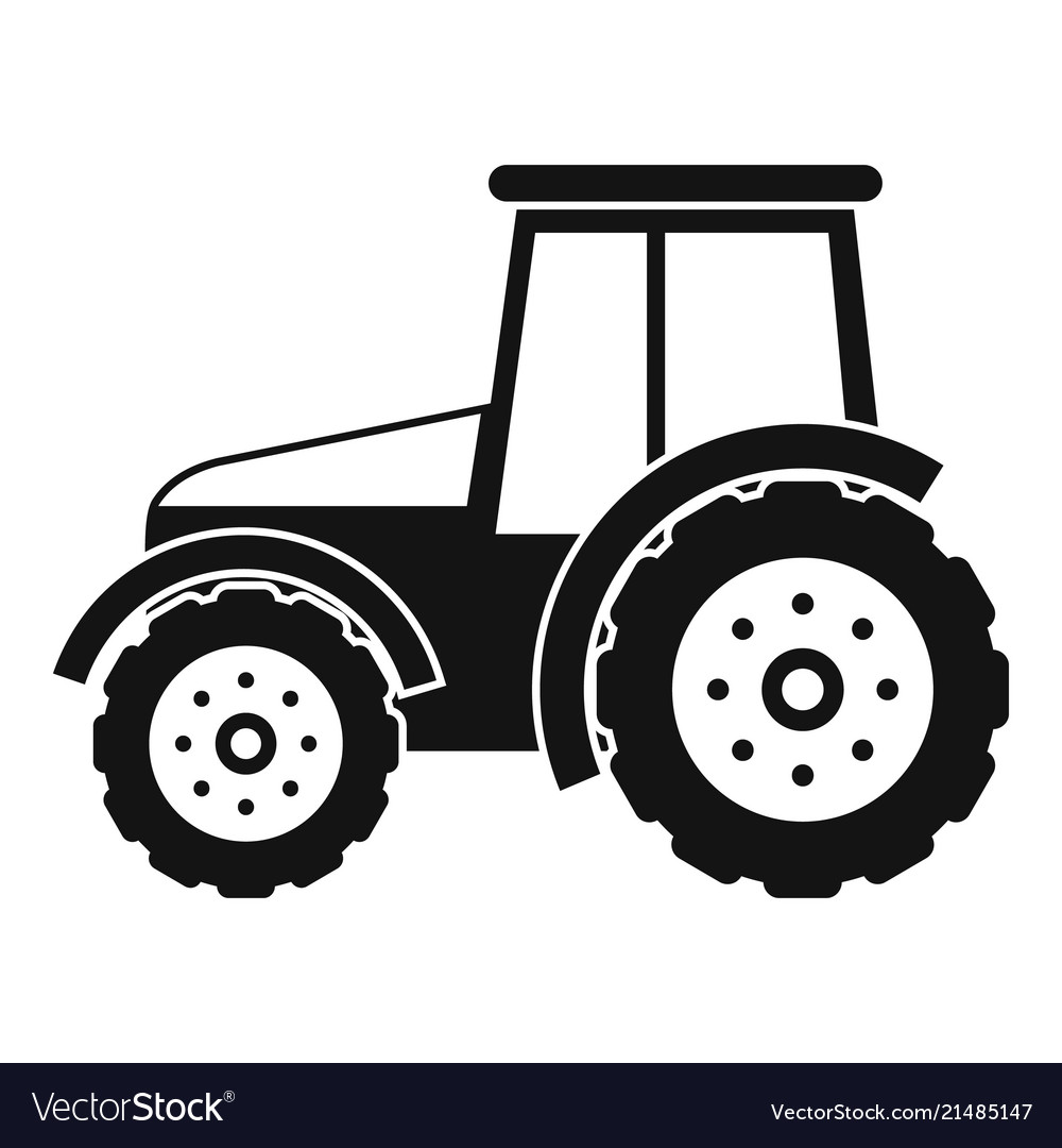 Tractor icon simple style