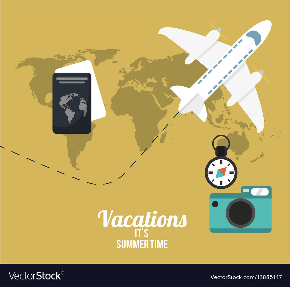Vacations summer time concept poster
