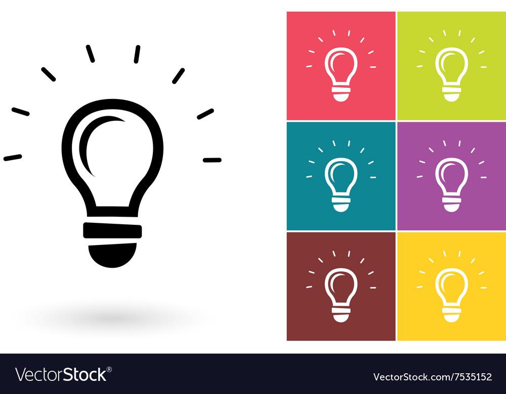 Light lamp icon or idea symbol