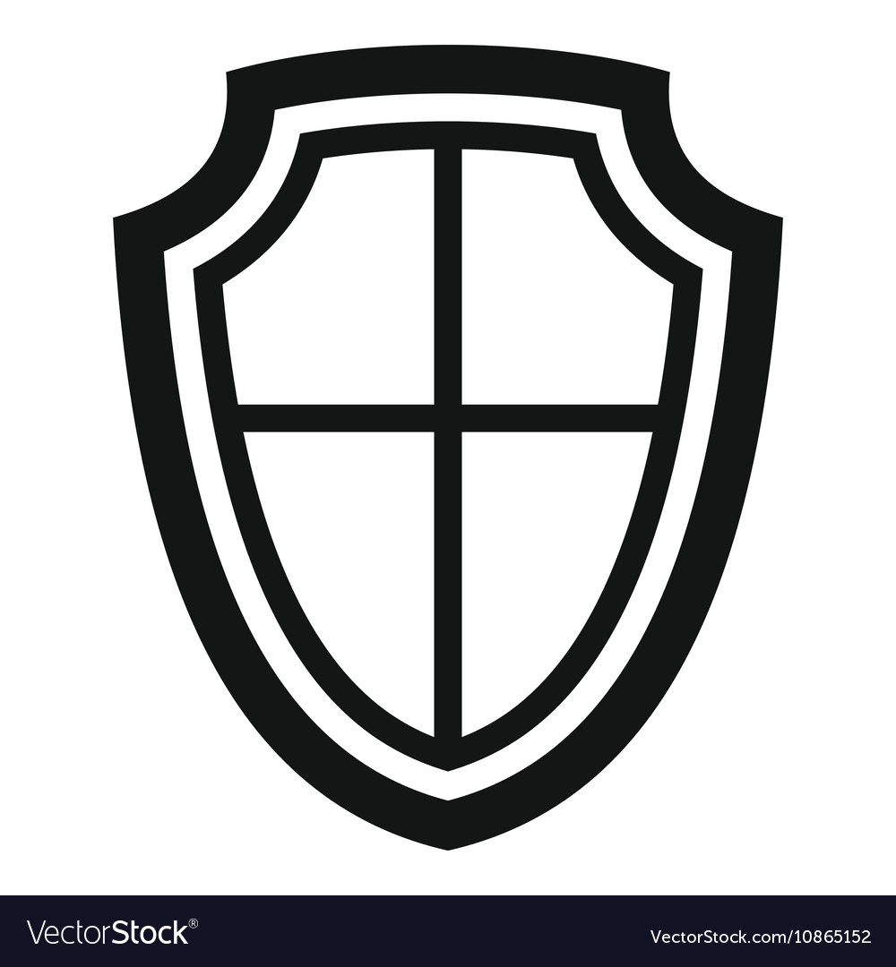 Shield icon in simple style