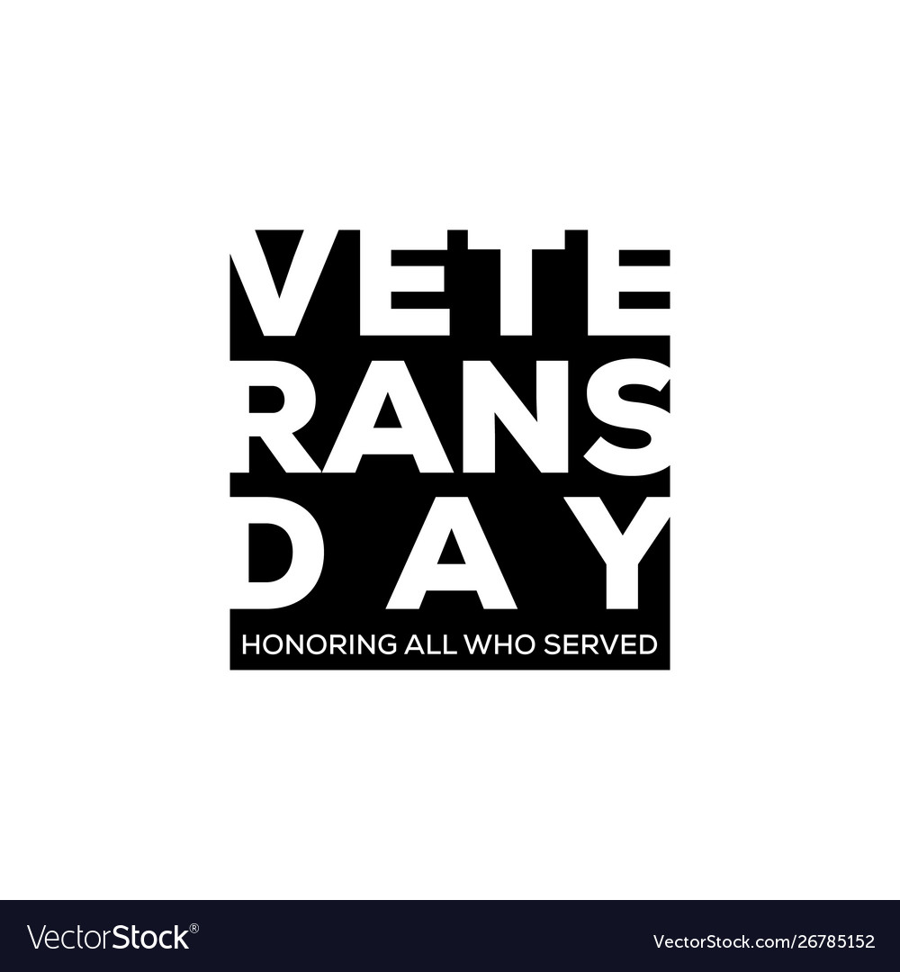 Usa veterans day in negative space