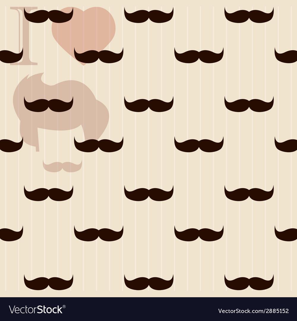 Vintage retro hipster mustache