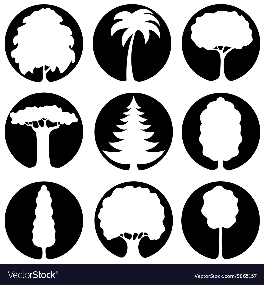 A set of trees icons