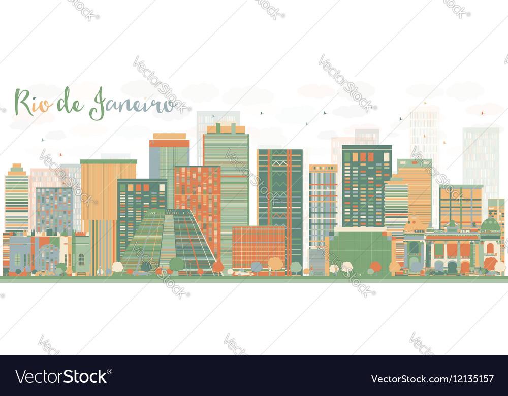 Abstract Rio de Janeiro Skyline