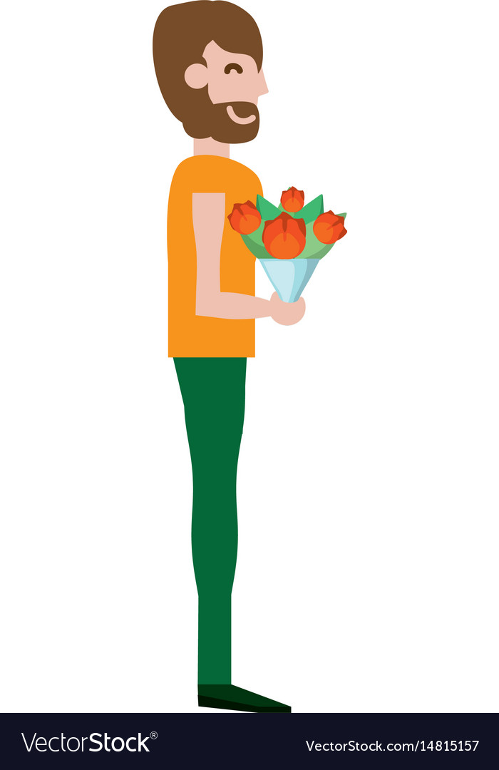 Adult male flowers vector image
