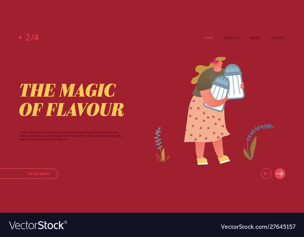 Cooking and spice website landing page cute fatty