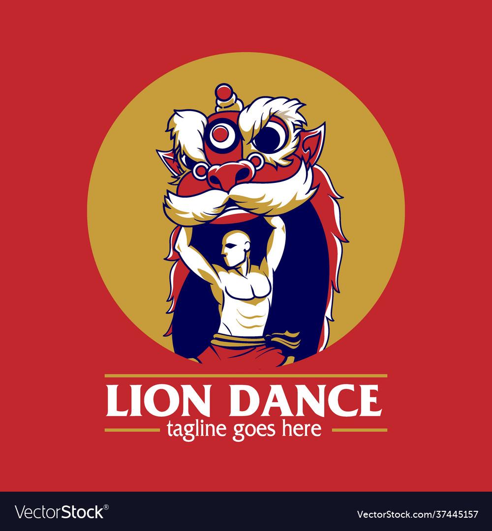Lion dance or barongsai symbol