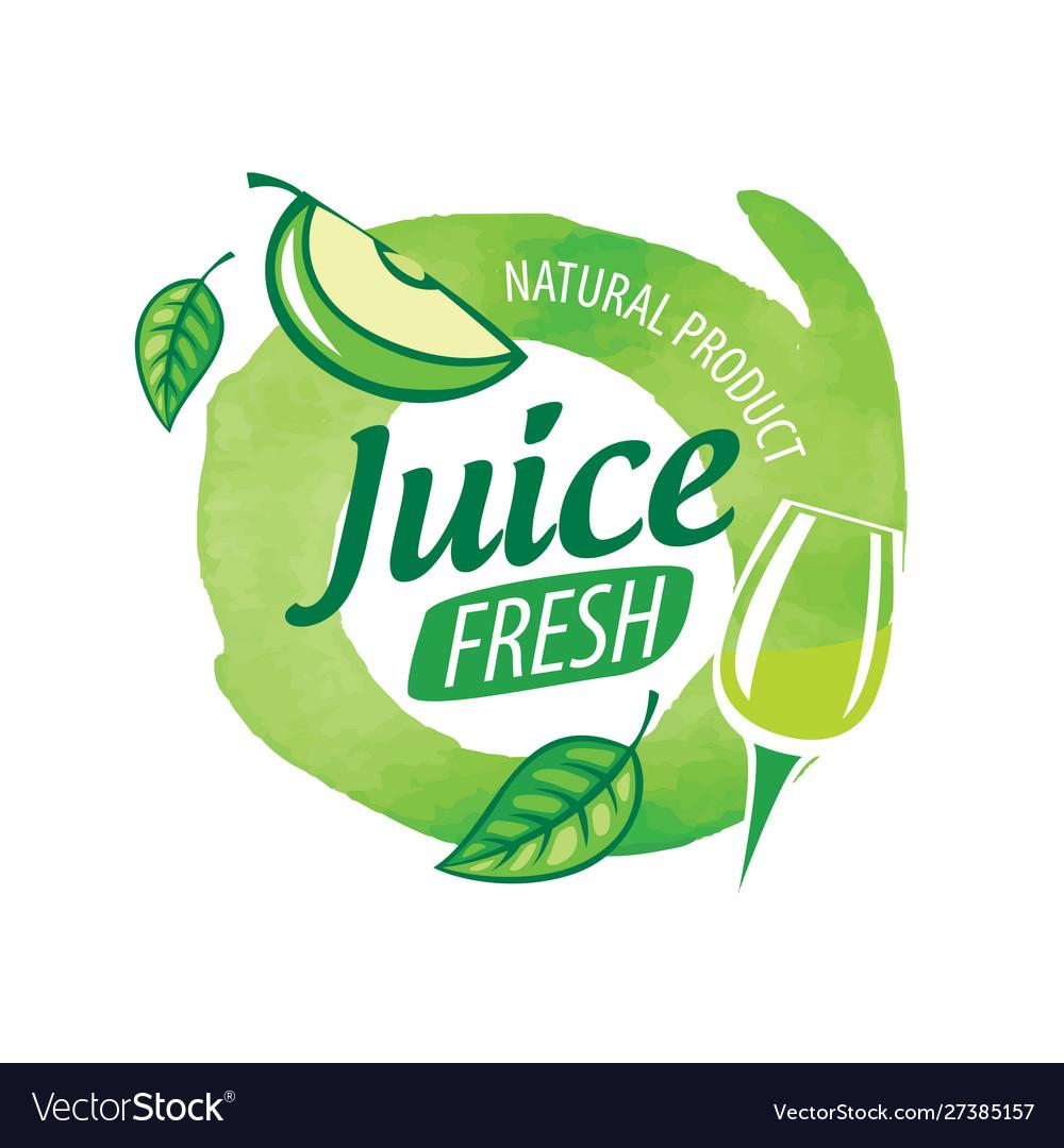 Logo splashes green apple juice on white