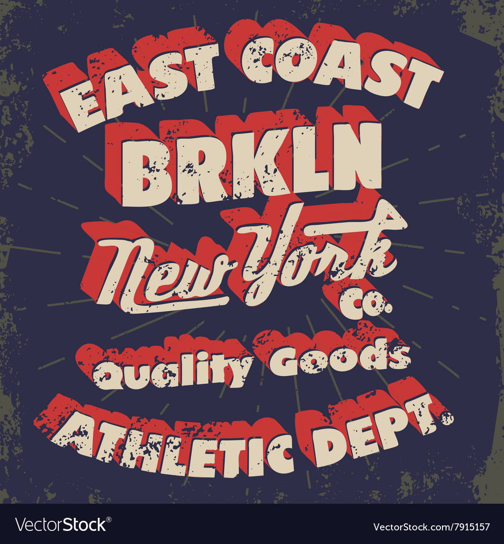 New York typography t-shirt graphics