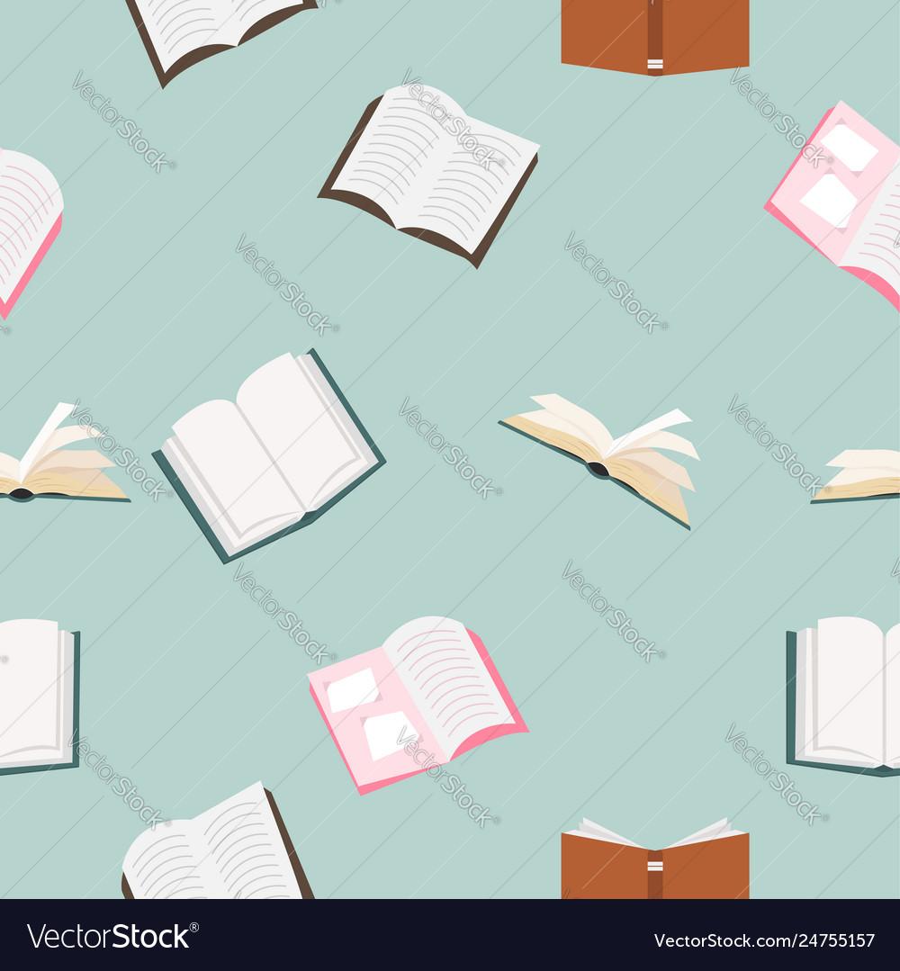 Open books seamless pattern