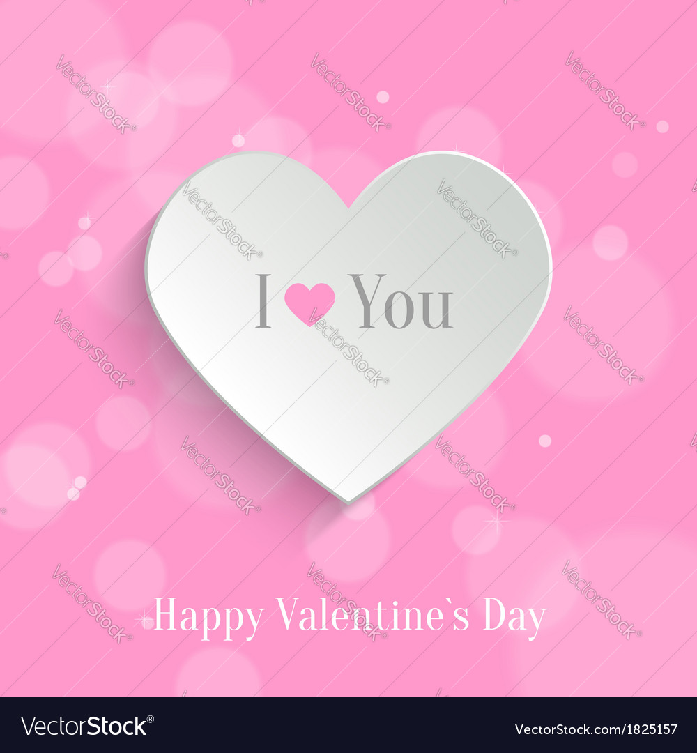 Speech bubble Valentines day backround Royalty Free Vector