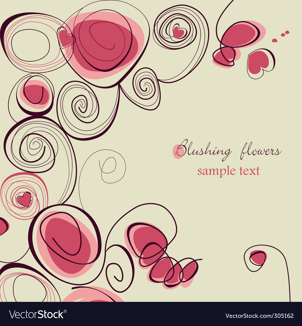 Blushing flowers vector image