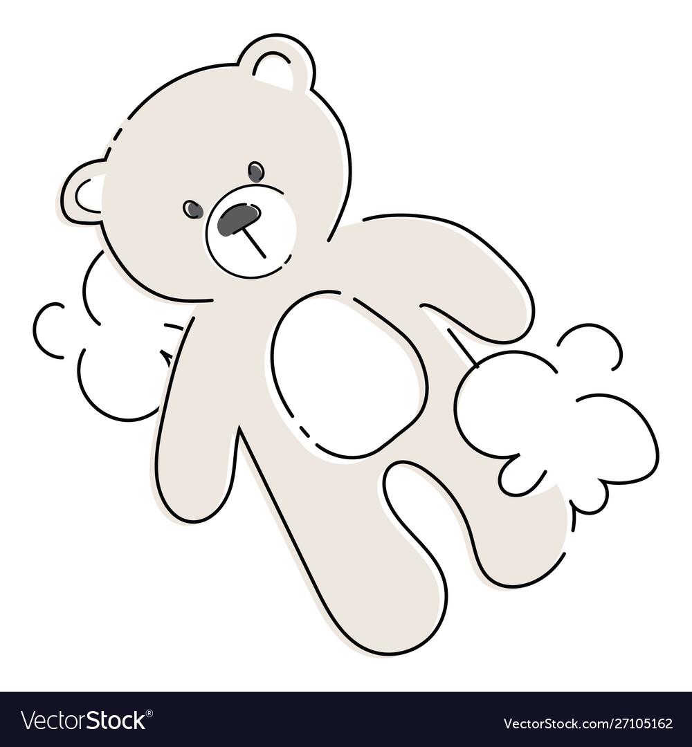 Cartoon teddy bear plush toy bear for children
