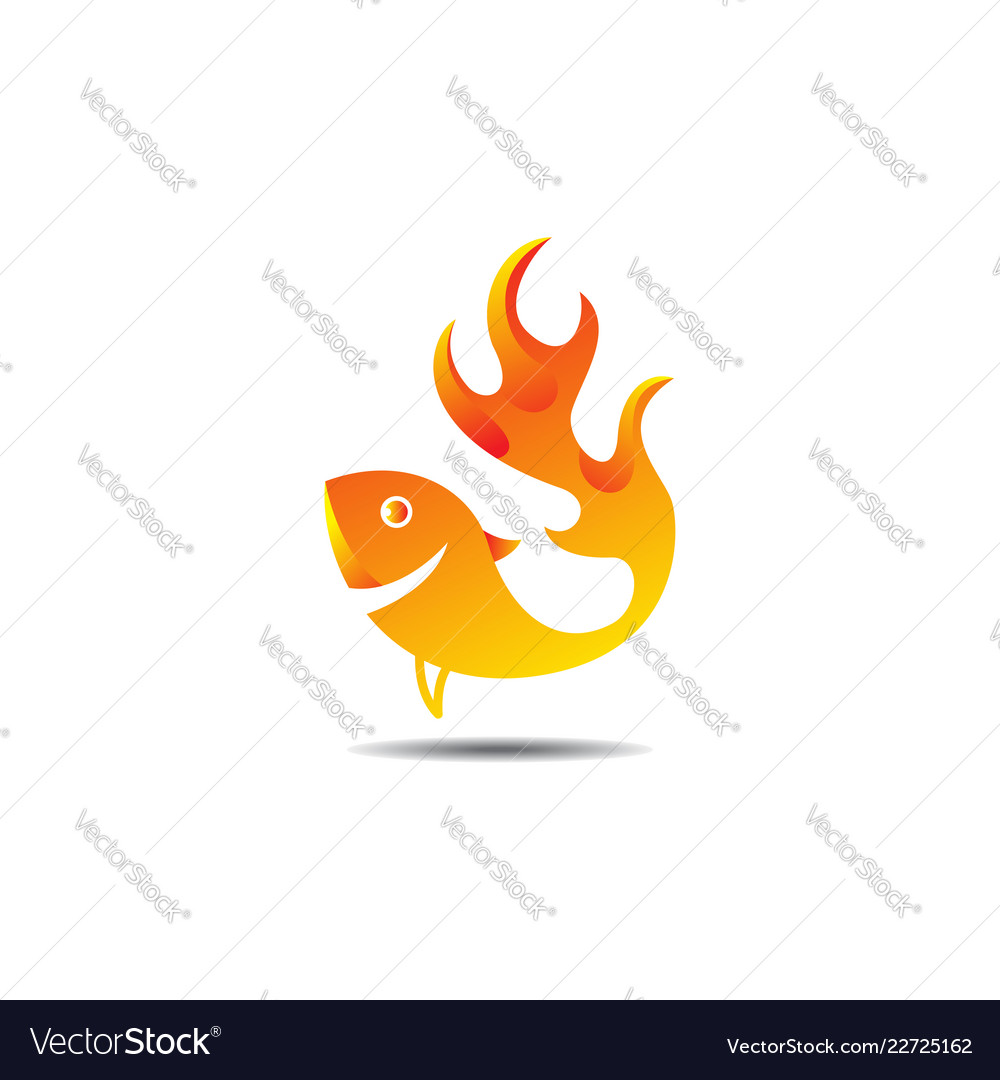 Fish logo template ready for use